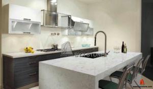 Artificial White Quartz Slab for Countertop/Kitchen Top pictures & photos