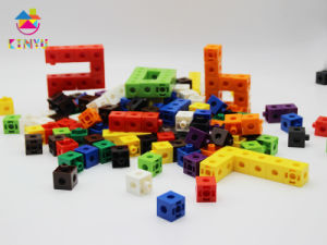 Plastic Educational Toy Snap Linking Cubes (K002) pictures & photos