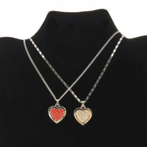 Colorful Crystal Heart Necklace for Girl Jewelry (FN16040814) pictures & photos