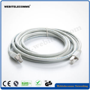 FTP CAT6A Network Patch Cord with Grey Color pictures & photos