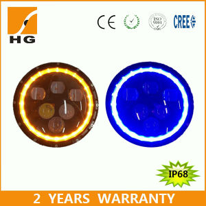 7′′ High Low Beam CREE LED Headlight with Halo pictures & photos