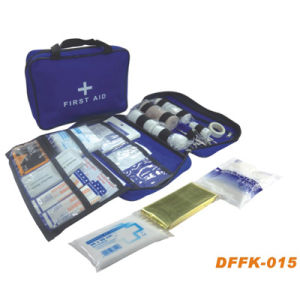 Blue Color First Aid Kit & Travel First Aid Bag (DFFK-015) pictures & photos