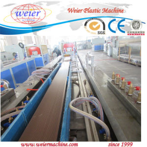 PE WPC Profile Flooring Plastic Extrusion Making Machine pictures & photos