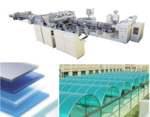 PC Polycarbonate Hollow Sheet Extrusion Line/Polycarbonate Sheet Extrusion Machine pictures & photos
