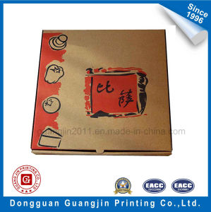 Customized Simple Design Brown Kraft Paper Corrugated Pizza Box pictures & photos