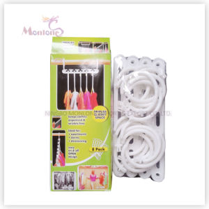 8 Pack Plastic Closet Space Saving Clothes Hanger pictures & photos
