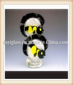 Animal Black Fish Glass Craft for Decoration