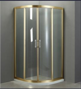 Simple Golden Border Aluminium Shower Enclosure (NJ-871) pictures & photos