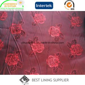 Poly Viscose 68d*120d 145cm 90-93GSM Men′s Suit Jacquard Lining Fabric pictures & photos