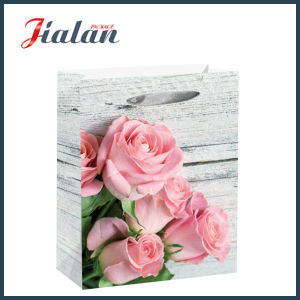Ribbon Rope Wood Style Flowers Daily Shopping Gift Paper Handbags pictures & photos