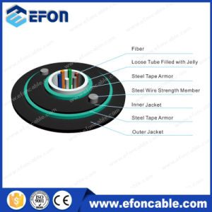 Factury Supply Single Mode 12core Direct Burial Fiber Optical Cable pictures & photos