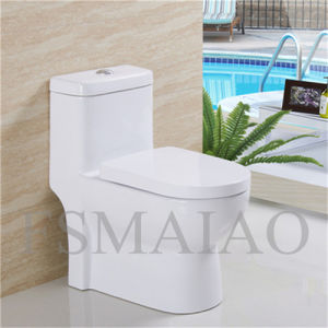 High Quality Bathroom Siphonic One Piece Ceramic Toilet (8101) pictures & photos