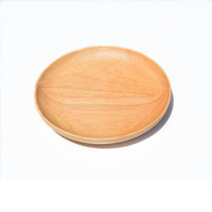 Beech Wood Dessert Plate Melon Seeds Disc Nuts Round Wooden Tray pictures & photos