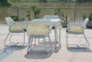 Mtc-198 Plastic Rattan Garden Dining Table Furniture pictures & photos