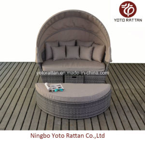 Outdoor Rattan Big Daybed in Brushed Grey (1405) pictures & photos
