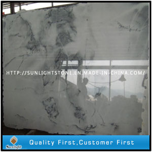 Polished Crystal White Wave Marble Stone Tiles for Paving Flooring pictures & photos