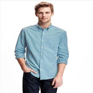 2016 Men′s Light Blue Fashion Designer 100% Cotton Shirts pictures & photos