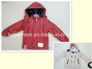 Coated Children & Kids Waterproof Fashion Rain Jacket with Hood pictures & photos