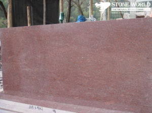 Polished Red Purphyry Granite Slab for Countertop and Wall pictures & photos