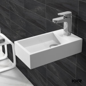 Italian Style Solid Surface Floor Standing Bathroom Sinks pictures & photos