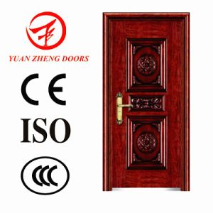 Interior Wooden Color Steel Safety Door pictures & photos
