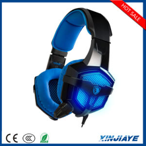 Sades SA-806 USB 3.5mm Wired Gaming Headset with Mic LED pictures & photos