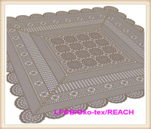 Hot Sale Vinyl Lace Ready Made Table Cloth Factory pictures & photos