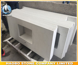 White Quartz Kichten Countertop Artificial Stone Vanity Tops pictures & photos