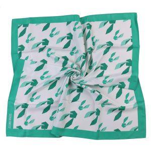 Clean Elegant Genre Silk Printed Scarf Fresh Dark Green Uniform Formal Dress Matching Scarf Shawl (LS-41) pictures & photos