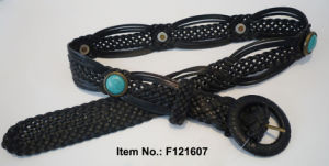 Fashion Accessories Braid Womens Belt with Agate (F121607) pictures & photos