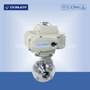 Ss 304 Sanitary Clamped Electric Butterfly-Type Full-Port Ball Valve pictures & photos