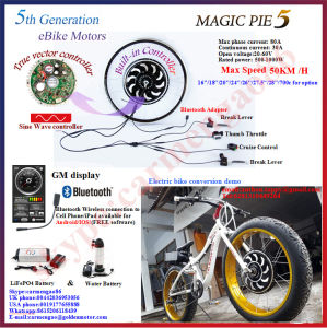 Magic Pie Electric Bike Conversion Kit Golden Motor Hub Motor E-Bicycle Kit with Bluetooth Display Available for Android/Ios 250W-1000W E-Bike Kit pictures & photos