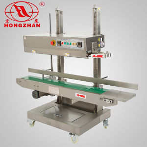 Plastic Bag Continuous Sealing Machine Continue Sealer with Nitrogen and Oxygen Filling for Cake Rice and Daily Commodity pictures & photos