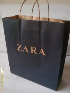 Kraft Paper Handle Shopping Bag/Recycle Paper Bag pictures & photos