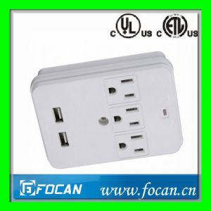 USB Ports 3 Outlets Surge Protected Current Tap pictures & photos