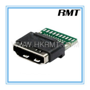 HDMI 19p a Type Female with PCB Board Connector (RMT-160325-030) pictures & photos