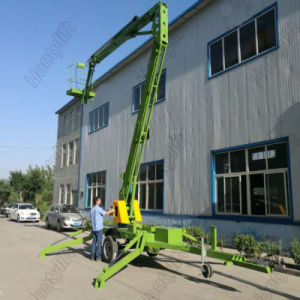 Aerial Work Trailer Mobile Lift Platform Hydraulic Folding Boom Lift pictures & photos