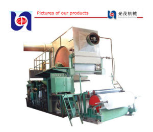 Small Toilet Tissue Paper Roll Machinery, Waste Paper Recycling (1575mm) pictures & photos