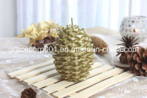 Pinecone Candle in Polybag 7*7*10cm pictures & photos