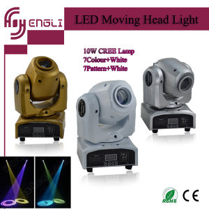 PRO 10W LED Mini Moving Light Head for Club Party (HL-014ST) pictures & photos