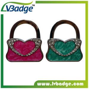Promotion Lady Women Foldable Metal Bag Hanger pictures & photos