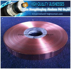 Heat Sealed Adhesive Copper Polyester Tape for Cable pictures & photos