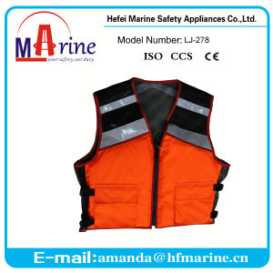 Solas Reflective Tape Multi-Colored Work Safety Vest pictures & photos