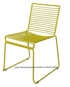 Modern Dining Stackable Side Metal Wire Chair pictures & photos