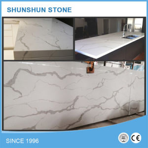 Artificial Stone White Calacatta Quartz Slab for Countertop pictures & photos