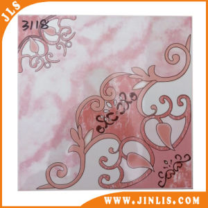Building Material Glazed Inkjet Ceramic Floor Tiles with Red Pattern pictures & photos