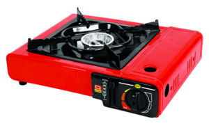 Red Color with Plastic Handle Box Portable Gas Stove
