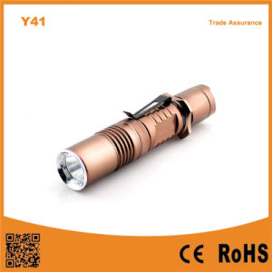Y41 Xml T6 LED Aluminum Rechargeable Flashlight pictures & photos