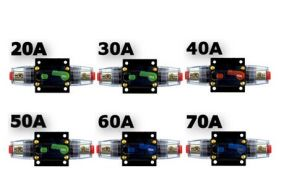 20 AMP in-Line Circuit Breaker Stereo/Audio/Car/RV 20aamp Fuse 12V/24V/32V pictures & photos