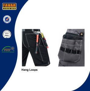 Men′s Summer Work Shorts Workwear Multi Pockets Black Cargo Shorts pictures & photos